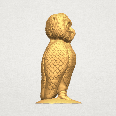 TDA0594 Owl 03 A07.png Download free STL file Owl 03 • 3D printing object, GeorgesNikkei