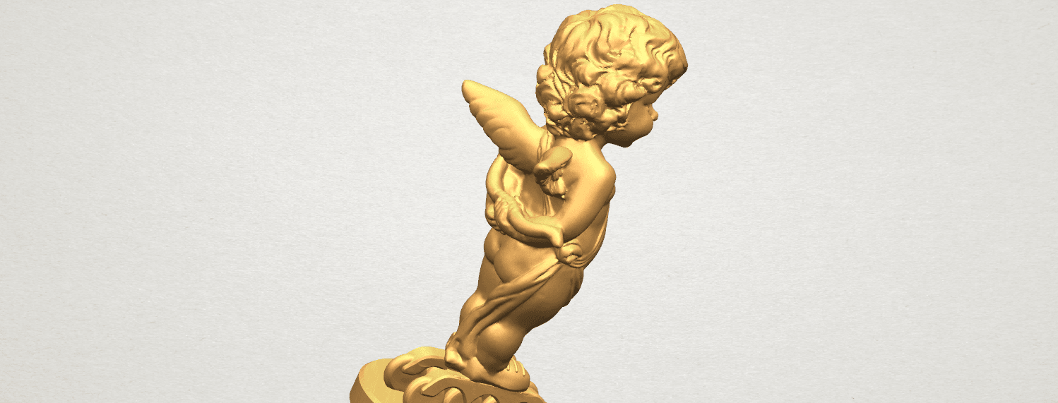 TDA0478 Angel Baby 01 A08.png Download free STL file Angel Baby 01 • 3D print template, GeorgesNikkei