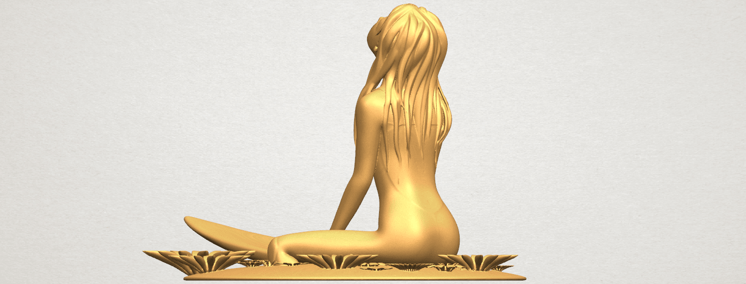 TDA0589 Girl surfing board 01 A05.png Download free STL file Girl surfing board 01 • 3D printing object, GeorgesNikkei