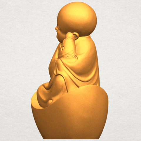A03.png Download free STL file Little Monk 04 • 3D printer template, GeorgesNikkei