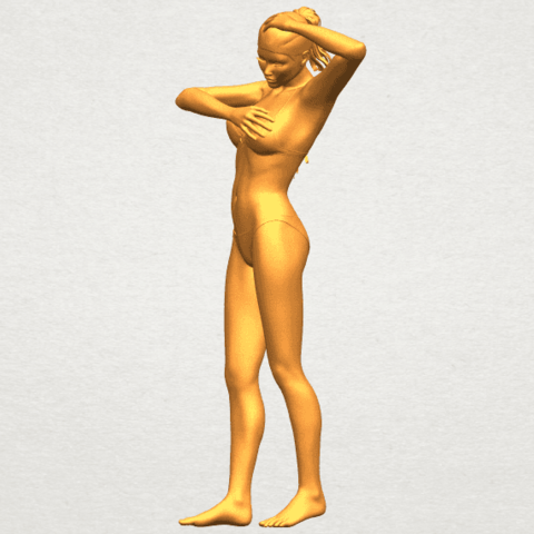 03.png Download free STL file Naked Girl D03 • 3D printing template, GeorgesNikkei