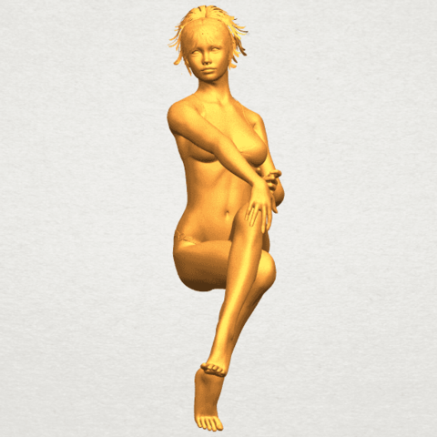A04.png Download free STL file Naked Girl H02 • 3D print object, GeorgesNikkei