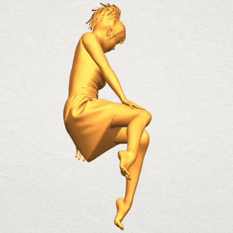 A08.png Download free STL file Naked Girl E06 • 3D printer object, GeorgesNikkei