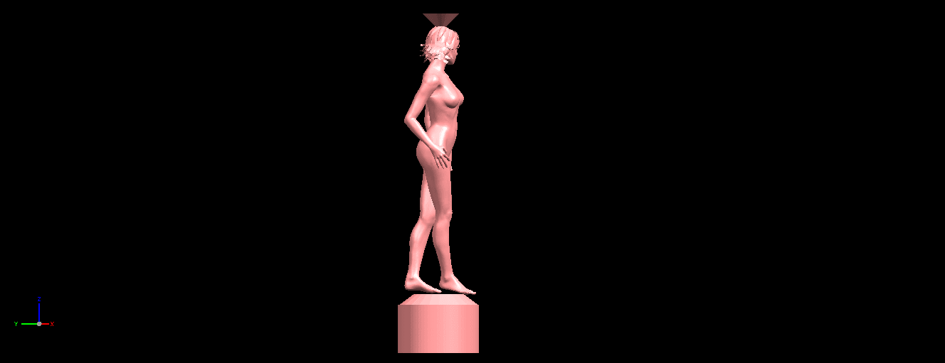 06.png Download free STL file Naked Girl with Vase on Top (i) • 3D print template, GeorgesNikkei