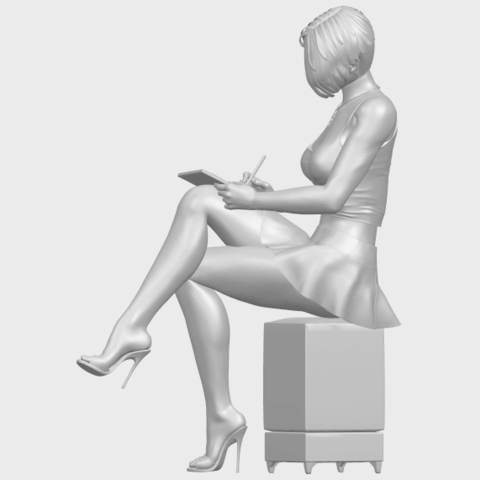 19_TDA0471_Beautiful_Girl_05_A03.png Download free STL file Beautiful Girl 05 • 3D printing template, GeorgesNikkei