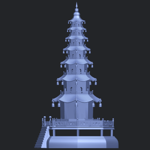 03_TDA0623_Chiness_pagodaB03.png Download free STL file Chiness pagoda • Design to 3D print, GeorgesNikkei