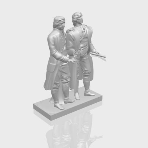 15_Goethe_schiller_80mmA00-1.png Télécharger fichier STL gratuit Goethe Schiller • Modèle imprimable en 3D, GeorgesNikkei