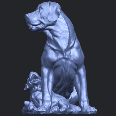 02_TDA0526_Dog_and_PuppyB05.png Download free STL file Dog and Puppy 01 • Model to 3D print, GeorgesNikkei
