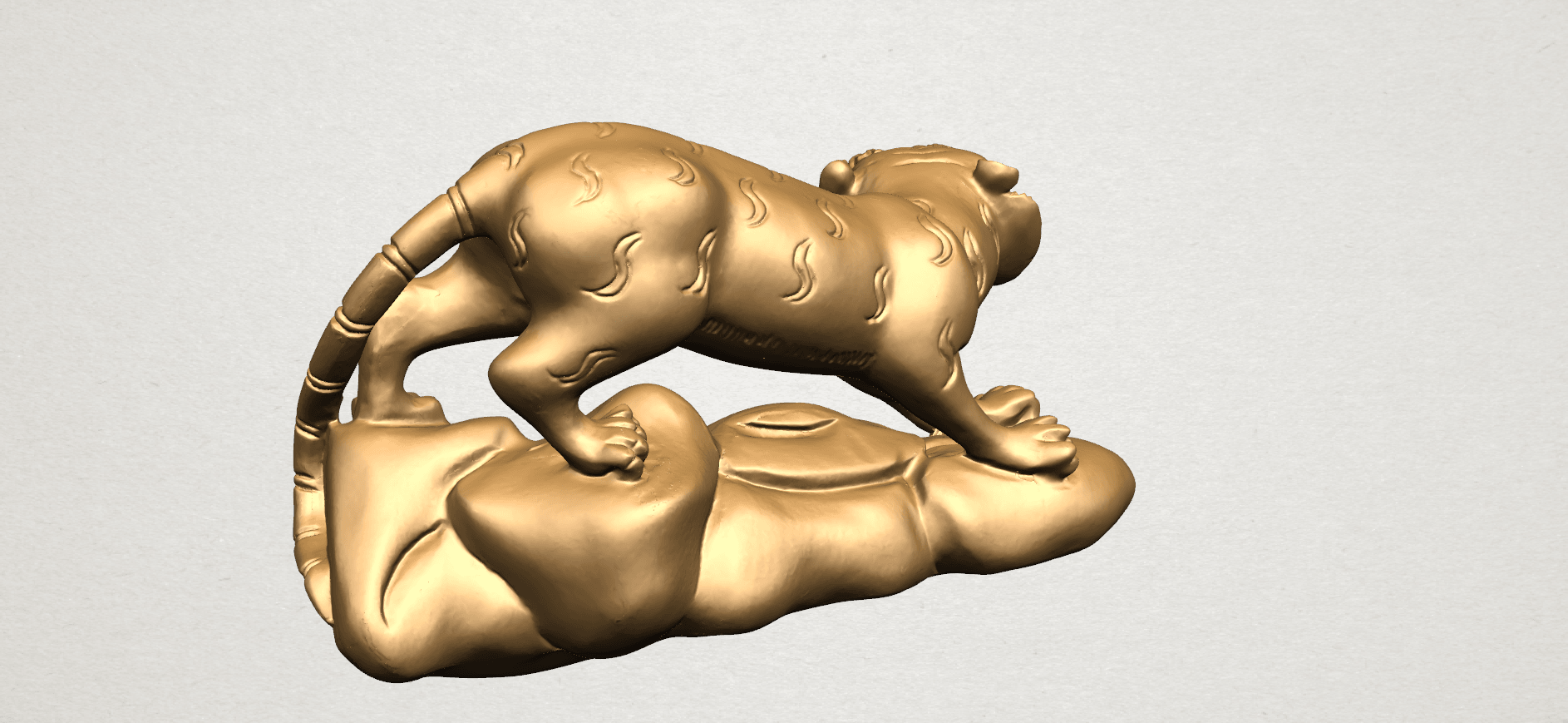 Chinese Horoscope03-A03.png Download free STL file Chinese Horoscope 03 Tiger • 3D printer template, GeorgesNikkei