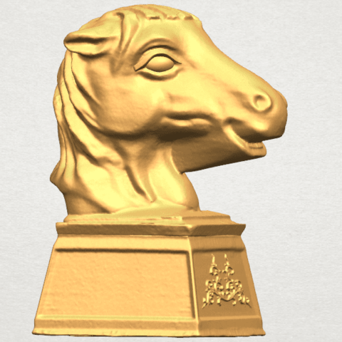 TDA0514 Chinese Horoscope of Horse 02 A06.png Download free STL file Chinese Horoscope of Horse 02 • 3D printer model, GeorgesNikkei