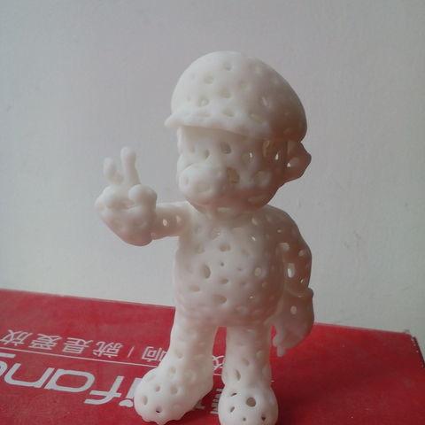 Mario-B04.jpg Download free STL file Voronoi Mario • Model to 3D print, GeorgesNikkei