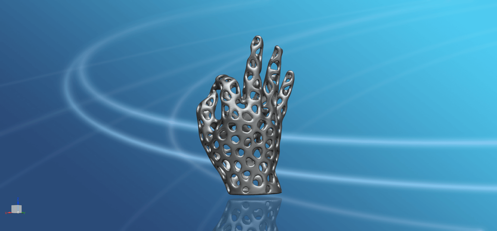 Voronoi Hand-03.png Download free STL file Voronoi Hand • Object to 3D print, GeorgesNikkei