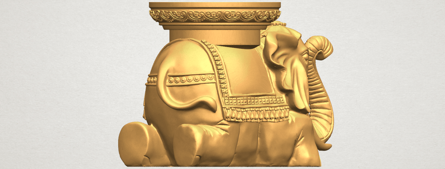 TDA0501 Elephant Table A04.png Download free STL file Elephant Table • 3D printing object, GeorgesNikkei