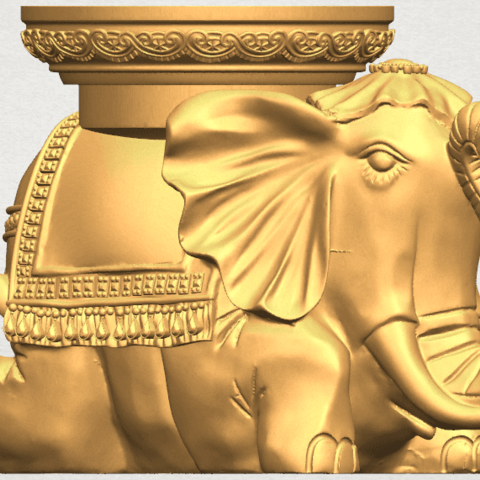 TDA0501 Elephant Table A05.png Download free STL file Elephant Table • 3D printing object, GeorgesNikkei