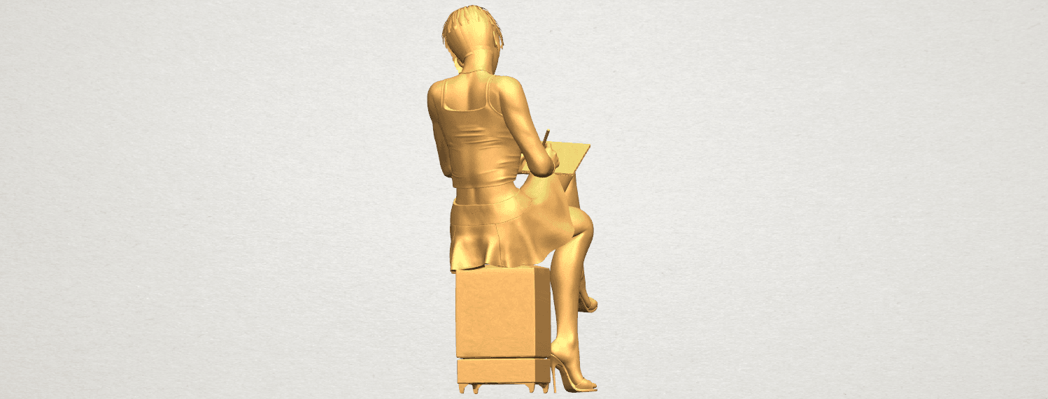 TDA0471 Beautiful Girl 05 A05.png Download free STL file Beautiful Girl 05 • 3D printing template, GeorgesNikkei