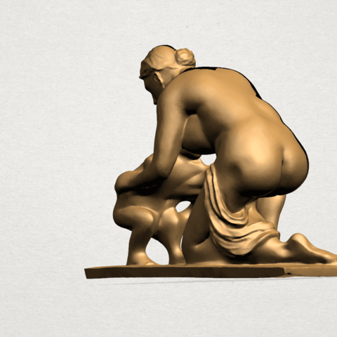 Mother-Child (iv) A02.png Download free STL file Mother and Child 04 • 3D print template, GeorgesNikkei
