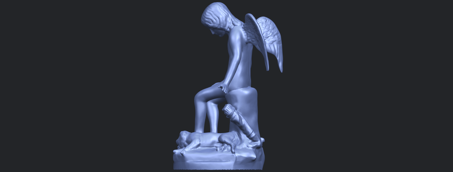 05_Angel_and_Dog_80mmB04.png Download free STL file Angel and Dog • 3D print model, GeorgesNikkei