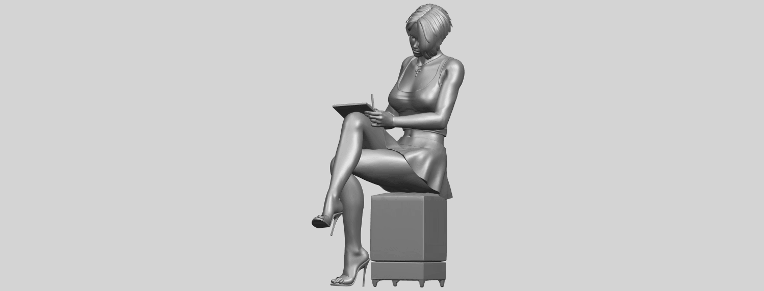19_TDA0471_Beautiful_Girl_05_A02.png Download free STL file Beautiful Girl 05 • 3D printing template, GeorgesNikkei