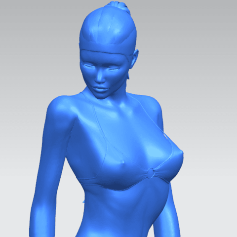 09.png Download free STL file Naked Girl D04 • 3D printable template, GeorgesNikkei
