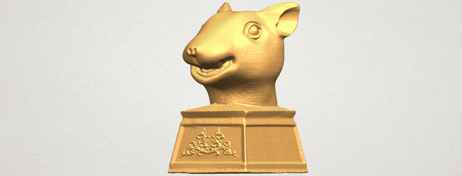 TDA0508 Chinese Horoscope of Rat 02 A02.png Download free STL file Chinese Horoscope of Rat 02 • 3D printable model, GeorgesNikkei