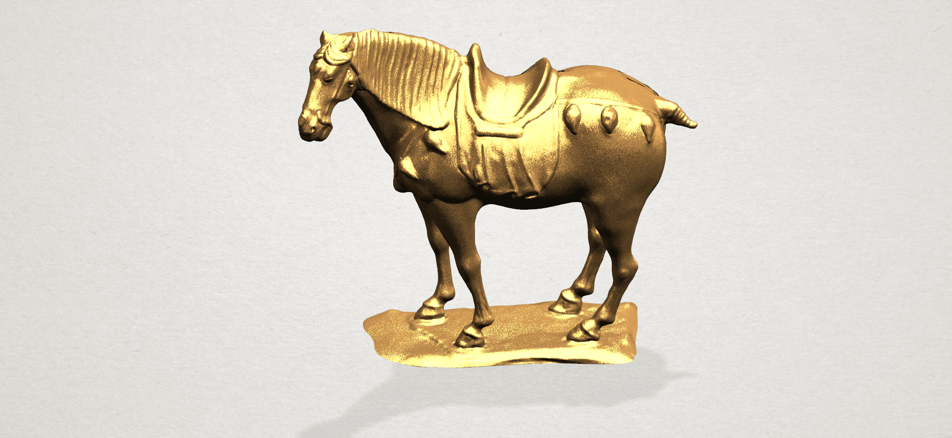 Horse (iv) A08.png Download free STL file Horse 04 • 3D print design, GeorgesNikkei