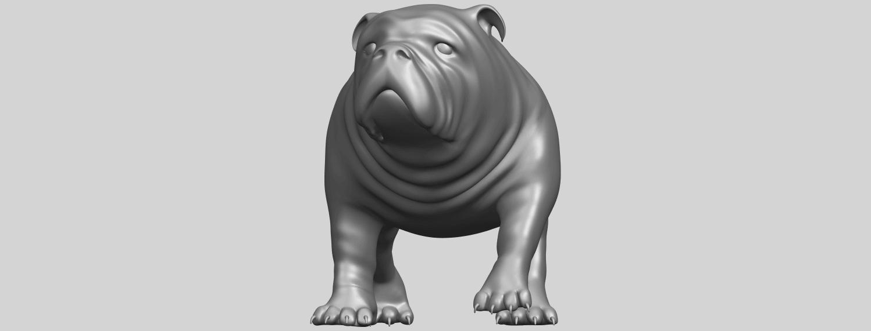 14_TDA0520_Bull_Dog_01A01.png Télécharger fichier STL gratuit Chien de taureau 01 • Plan pour impression 3D, GeorgesNikkei