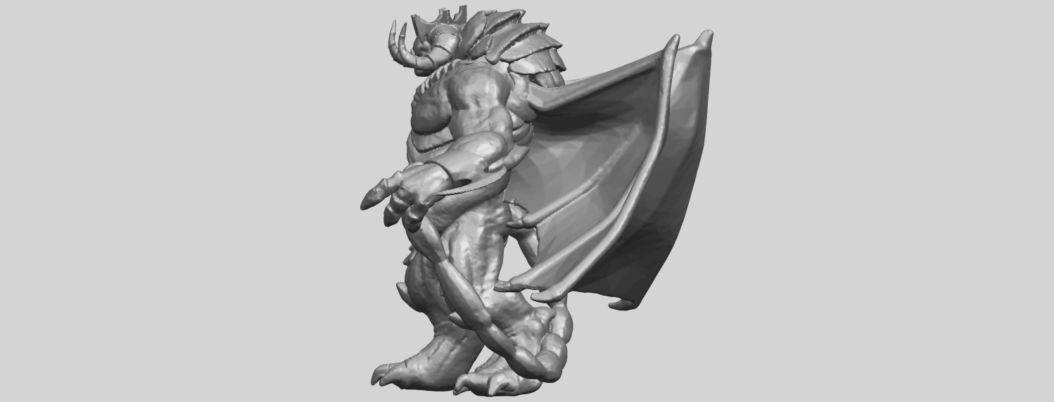 18_TDA0217_Monster_iA04.png Download free STL file Monster 01 • 3D printable template, GeorgesNikkei