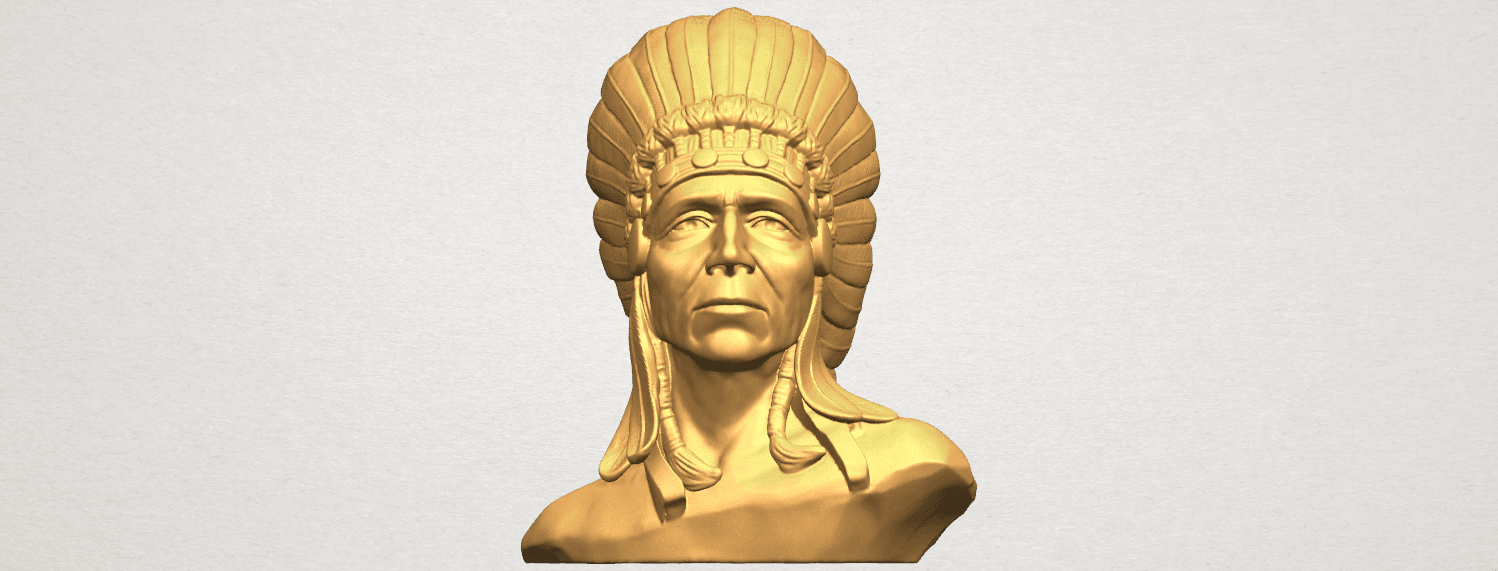 TDA0489 Red Indian 03 - Bust A01 ex500.png Download free STL file Red Indian 03 • 3D printer model, GeorgesNikkei
