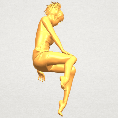 A08.png Download free STL file Naked Girl E05 • 3D print object, GeorgesNikkei