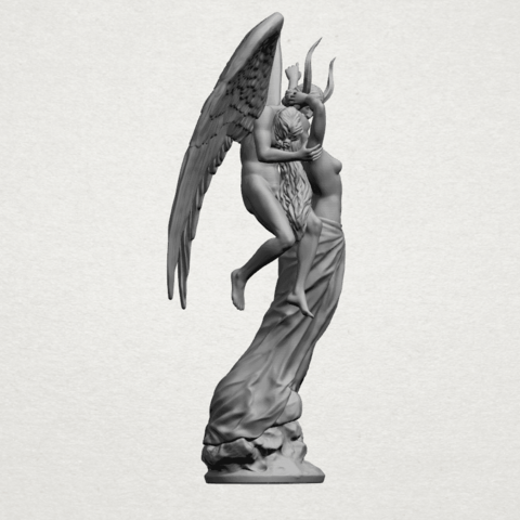 Angel and devil - A12.png Download free 3DS file Angel and devil • 3D print template, GeorgesNikkei