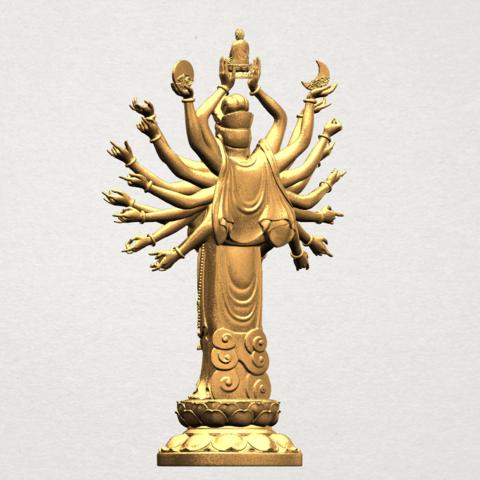 Avalokitesvara Bodhisattva (multi hand) 80mm -B05.png Download free STL file Avalokitesvara Bodhisattva (multi hand) (i) • 3D print object, GeorgesNikkei