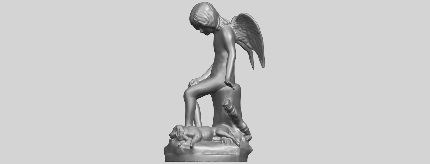 05_Angel_and_Dog_80mmA03.png Download free STL file Angel and Dog • 3D print model, GeorgesNikkei