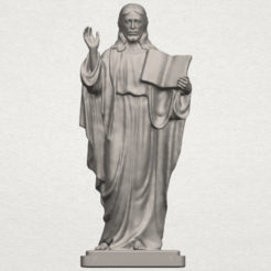Download free 3D printer templates Jesus 05, GeorgesNikkei