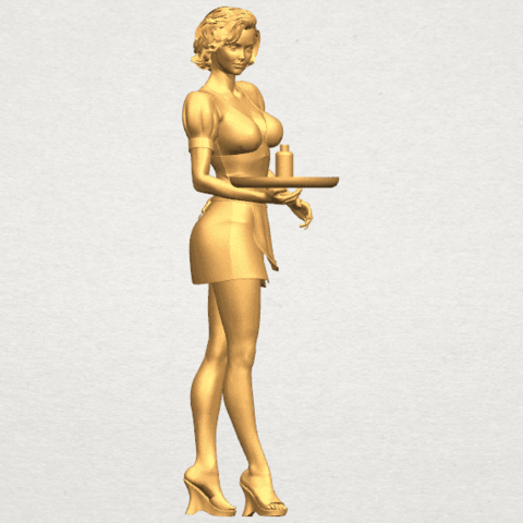 TDA0475 Beautiful Girl 09 Waitress A06.png Download free STL file Beautiful Girl 09 Waitress • 3D printable object, GeorgesNikkei
