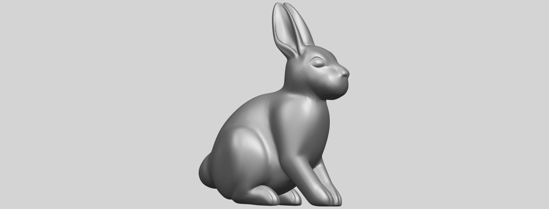 TDA0755_Rabbit_03A07.png Télécharger fichier STL gratuit Lapin 03 • Design à imprimer en 3D, GeorgesNikkei