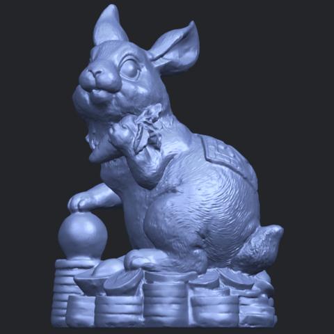 07_TDA0559_Rabbit_02B02.png Télécharger fichier STL gratuit Lapin 02 • Design imprimable en 3D, GeorgesNikkei