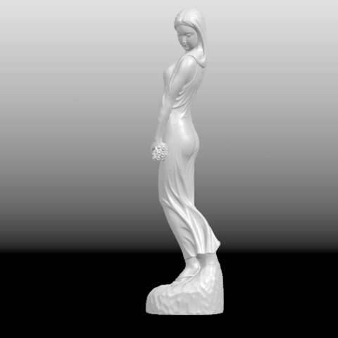 02.png Download free STL file Asian Girl 01 • 3D printer template, GeorgesNikkei