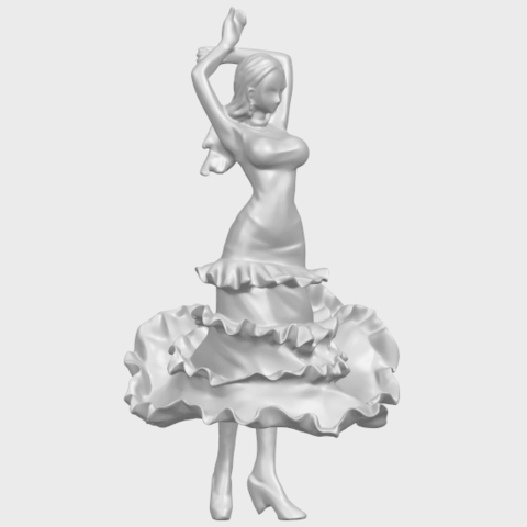 23_Girl_with_Dress_80mm-A03.png Download free STL file Girl with Dress • Object to 3D print, GeorgesNikkei