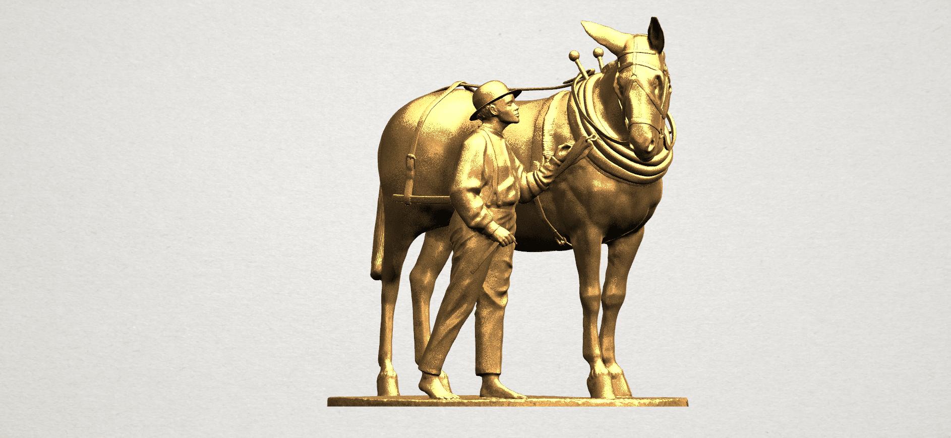 Horse with Man (i) - A09.png Télécharger fichier STL gratuit Cheval avec Man 01 • Objet à imprimer en 3D, GeorgesNikkei