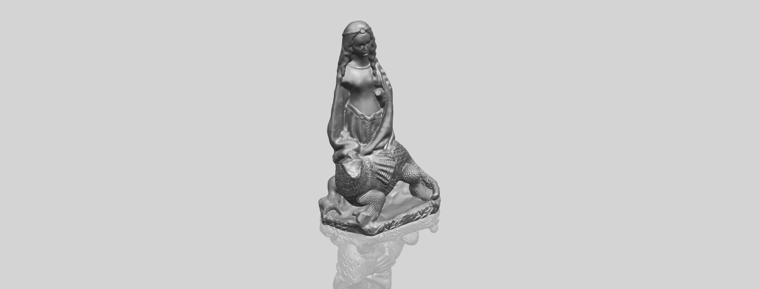 St Margaret 88mmA00-1.png Download free STL file Saint Margaret  • Template to 3D print, GeorgesNikkei