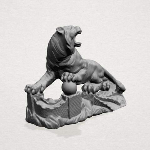 Siberian Tiger - C02.png Télécharger fichier STL gratuit Tigre de Sibérie • Objet imprimable en 3D, GeorgesNikkei