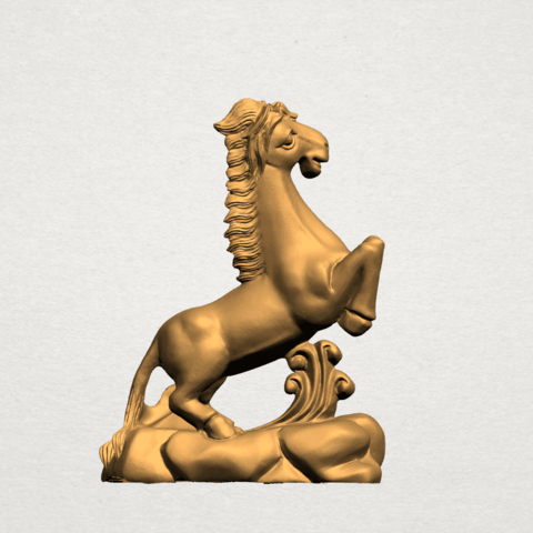 Chinese Horoscope07-A01.png Télécharger fichier STL gratuit Horoscope Chinois 07 Cheval Chinois • Design imprimable en 3D, GeorgesNikkei