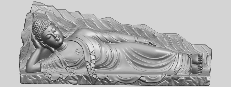 05_TDA0295_Sleeping_Buddha_iiiA01.png Télécharger fichier STL gratuit Bouddha Dormant 03 • Objet à imprimer en 3D, GeorgesNikkei