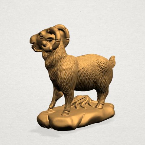 Chinese Horoscope08-A03.png Télécharger fichier STL gratuit Horoscope Chinois 08 Chèvre 08 Chèvre • Design pour imprimante 3D, GeorgesNikkei