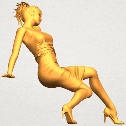 A09.png Download free STL file Naked Girl G10 • 3D printable template, GeorgesNikkei