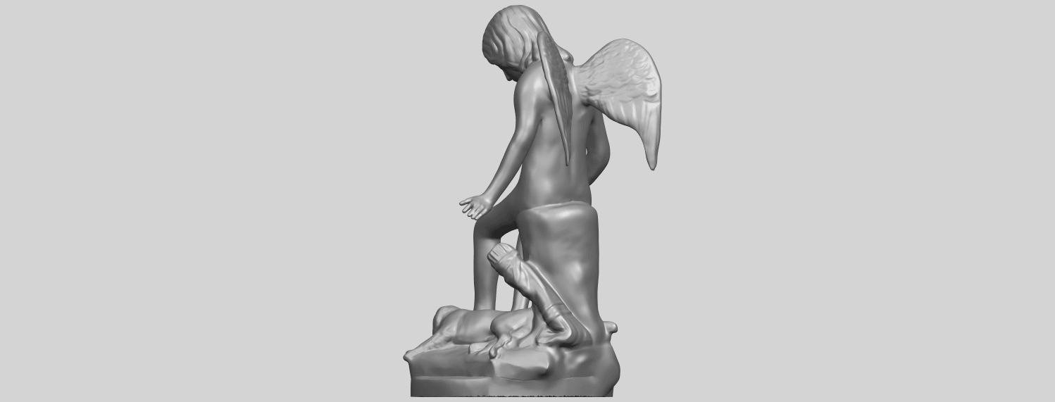 05_Angel_and_Dog_80mmA05.png Download free STL file Angel and Dog • 3D print model, GeorgesNikkei