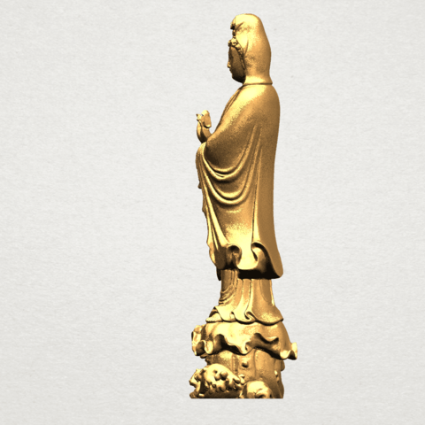 Avalokitesvara Buddha - Standing (v) A04.png Download free STL file Avalokitesvara Buddha - Standing 05 • 3D printer template, GeorgesNikkei