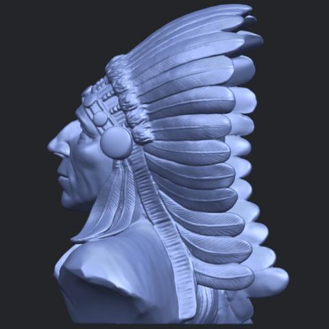 09_TDA0489_Red_Indian_03_BustB04.png Télécharger fichier STL gratuit Rouge Indien 03 • Objet pour impression 3D, GeorgesNikkei