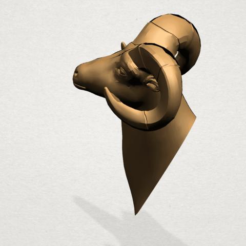 Goat - B03.png Télécharger fichier STL gratuit Chèvre 01 • Design pour impression 3D, GeorgesNikkei