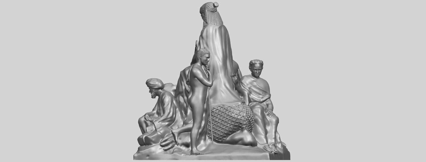 16_TDA0255_Villagers_and_CamelA04.png Download free STL file Villagers and Camel • 3D print template, GeorgesNikkei
